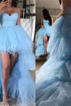 Robe de bal Tulle Sans Manches Fermeture à glissière Printemps