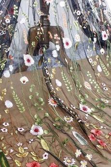 Robe de bal Sexy Naturel taille a ligne Mince Été Festin Manche Aérienne