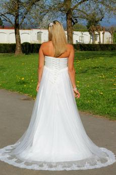 Robe de mariée Taille haute Sans Manches Empire Tulle haut bustier tube