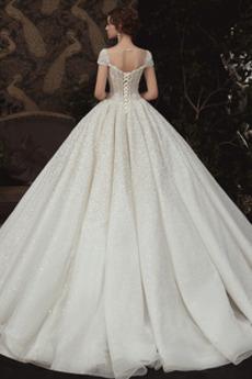 Robe de mariée Tulle Fourreau Avec Bijoux Manquant A-ligne Étoilé