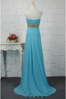 Robe de bal Dos nu Haut Bas Cristal Turquoise Montrer Sans courroies