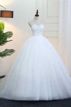 Robe de mariée Printemps Cathédrale Tulle Naturel taille Plumes