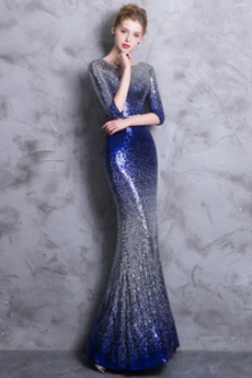 Robe de soirée Paillettes Pailleté Étoilé Naturel taille Sirène