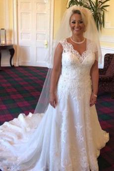 Robe de mariage Cérémonial Longue Fermeture à glissière Perle