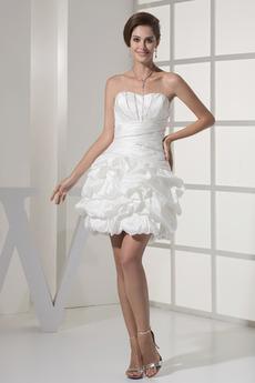Robe de mariée Sans courroies Perle Sans Manches Luxueux mini