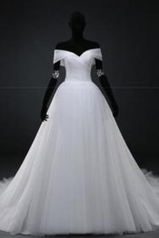 Robe de mariée Manche Courte Corsage plissé A-ligne Triangle Inversé
