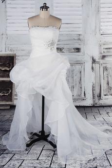 Robe de mariée vogue Soie Sans courroies Fourreau Avec Bijoux