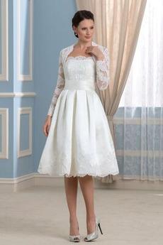 Robe de mariée Sans courroies Naturel taille De plein air Dos nu