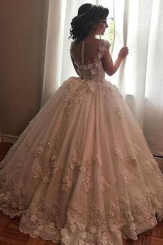 Robe de mariage Sablier Décalcomanie Sans Manches Gaze A-ligne