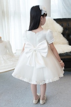 Robe de fille de fleur Formelle Manquant Cérémonie Longueur de genou