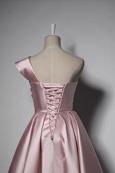 Robe de demoiselle d'honneur Vintage Naturel taille Longueur de genou