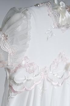 Robe de fille de fleur Princesse Dentelle Petit collier circulaire