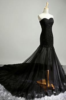 Robe de soirée Sirène Été Luxueux Sans Manches Dentelle Fête