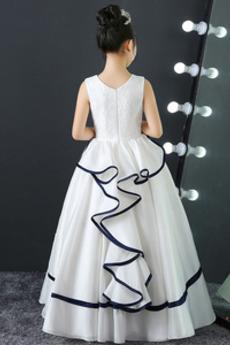 Robe de fille de fleur Cérémonie Epurée Dentelle Printemps Couvert de Dentelle