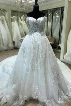 Robe de mariée Manche Courte Mancheron aligne Petites Tailles