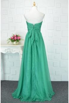 Robe de demoiselle d'honneur Turquoise Mariage Norme A-ligne