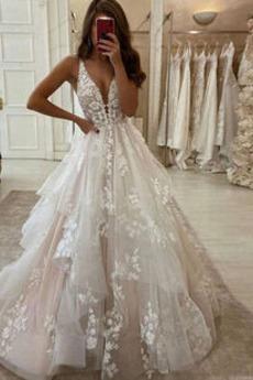 Robe de mariée Tulle Manquant Salle Longueur de plancher Dos nu