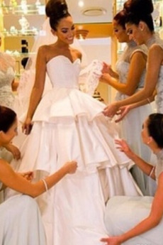 Robe de mariée Simple Fermeture à glissière Salle des fêtes Été