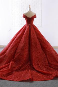 Robe de bal À la masse Mariage Sans Manches Pailleté Col en V