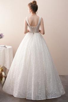 Robe de mariée Dos nu De plein air A-ligne Étoilé Longueur Cheville