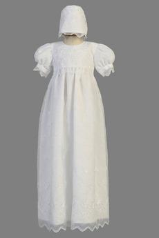 Robe de fille de fleur Manche Courte Organza Glissière Exquisite