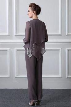 Robe mères Un Costume Avec des pantalons Naturel taille Longueur Cheville