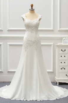 Robe de mariée Norme Pittoresque Perlé Naturel taille A-ligne
