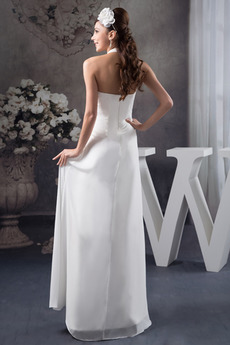 Robe de mariage Sans Manches rider Longueur de plancher Été Simple