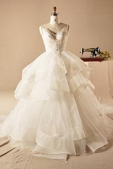 Robe de mariée Tulle Traîne Mi-longue Printemps Eglise Norme