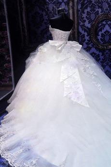 Robe de mariage Dentelle Eglise Col en Cœur Automne Manquant
