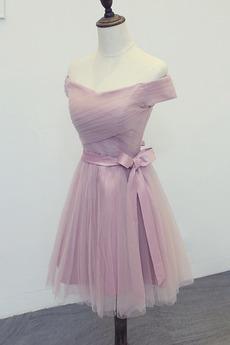 Robe de demoiselle d'honneur Tulle Été Fermeture à glissière