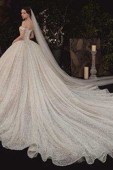 Robe de mariage Corsage Avec Bijoux Chaussez net Naturel taille