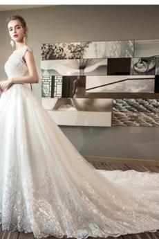 Robe de mariée Dos nu A-ligne Triangle Inversé Mancheron Perler