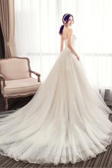 Robe de mariée Chapelle Sans courroies Décolleté Dans le Dos