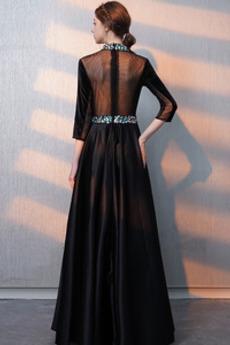 Robe de bal Fermeture éclair Montrer Luxueux A-ligne Col en V Foncé