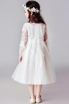 Robe de fille de fleur Cérémonie Médium Fermeture à glissière