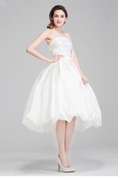 Robe de mariée Dos nu Soie Chic Naturel taille Sans courroies