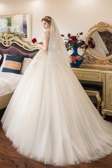 Robe de mariage Manche Courte Décalcomanie Chaussez Salle des fêtes