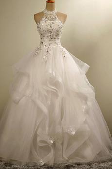 Robe de mariée Princesse Longueur de plancher Laçage Manquant