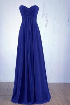 Robe de demoiselle d'honneur Fermeture à glissière Empire Mousseline