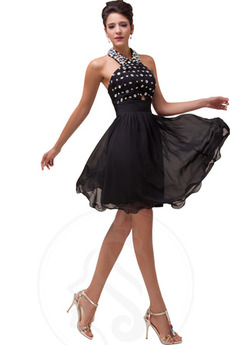 Robe de bal Ballon Naturel taille Triangle Inversé Accrocher le cou