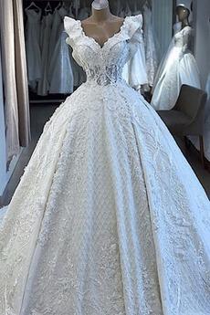 Robe de mariée Ruchés Plongeants net a ligne Cathédrale Formelle
