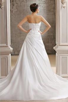 Robe de mariée Drapé Fourreau pli Naturel taille De plein air