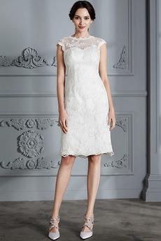 Robe de mariée Manquant Longueur de genou Petit collier circulaire