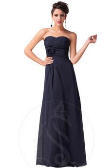 Robe de demoiselle d'honneur Mousseline Dos nu A-ligne Manquant