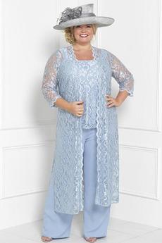 Robe mères Simple Avec des pantalons Couvert de Dentelle Mariage