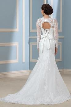 Robe de mariée Laçage Traîne Mi-longue Luxueux Manche Aérienne