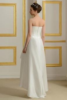 Robe de mariée Sans courroies Sans Manches Sablier Elégant Asymétrique