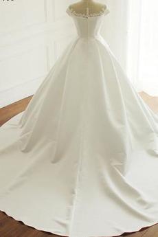 Robe de mariée Satin Fermeture à glissière Norme Naturel taille