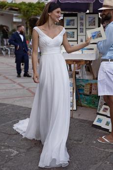 Robe de mariée Printemps Luxueux Fermeture éclair Naturel taille
